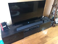 black 50 inch LED TV and black TV stand Rockville, 20850