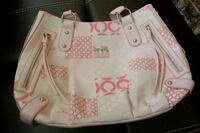 white and pink Coach leather tote bag Alexandria, 22307