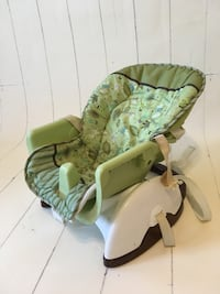 Reclining Booster chair with tray.