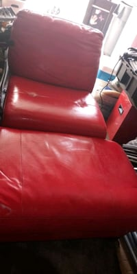 red leather sofa chair with ottoman Las Vegas, 89110