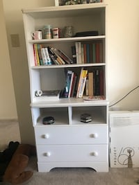 White Bookcase with 2 storage drawer Columbia, 21045