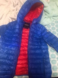 Guess Blue zip-up bubble jacket/ Size16 (fits as small in woman) Toronto, M1M 3R9