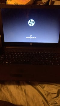 black and gray HP laptop 376 mi