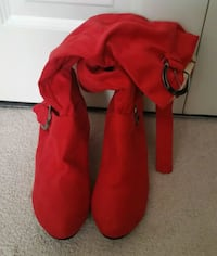 Brand New Red Suede Boots!  Hampton, 23666