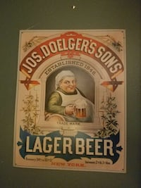 Tin type beer sign