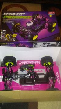black and pink RC toy car
