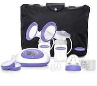 Lansinoh SignaturePro Double Electric Breast Pump with Tote Harvey, 70058