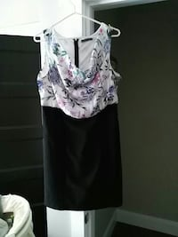 Black and floral dress very comfortable.  Woodstock, N4S 7V8