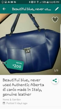 blue leather Alberta D. Authent handbag screenshot Fairfield, 94534