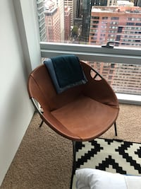 West Elm Leather Chair Chicago