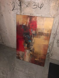 brown and red abstract painting Maplewood, 63143