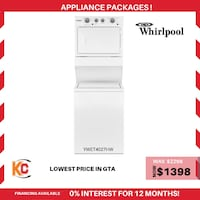 Brand new whirlpool washer and dryer is now at sale at vry lowest price in gta  Brampton