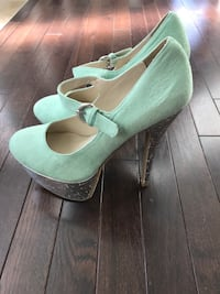 Mint Green Suede Shoes 56 km