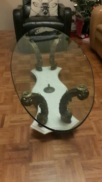 Beautiful marble and glass coffee table.