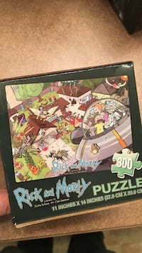 11 inch x 14 inches Rick and Morty puzzle box