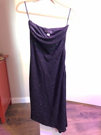 Jessica McClintock Black sparkle fitted dress, size M Chester, 10918