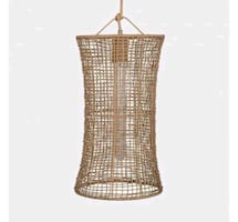 Leann Ford Hourglass Light Fixture Project 62 Minimalist Hand-woven -