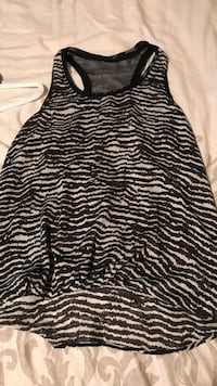 black and white zebra print tank top Kelowna, V1X 2M1