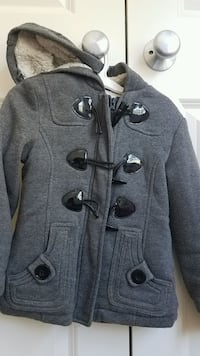 Girls clothes Fall Winter sherpa lined jacket size 4 Rockville