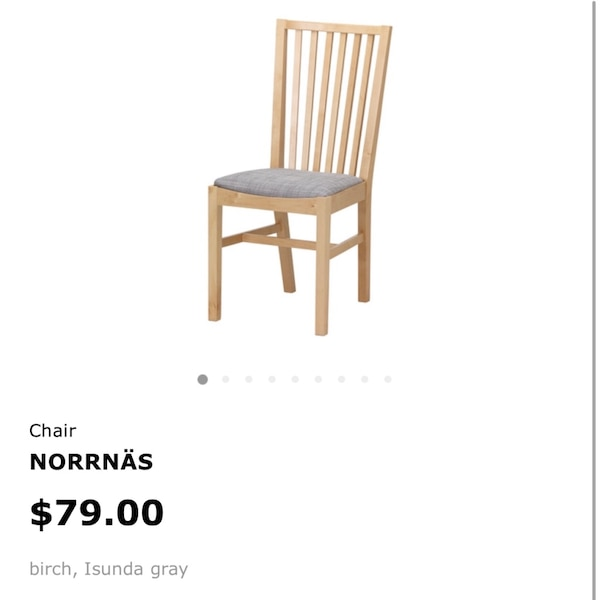 Groovy Ikea New Norrnas Birch Grey Dining Chair Pdpeps Interior Chair Design Pdpepsorg