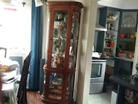 oval glass cabinet,