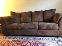 Brown suede 3-seat sofa Mississauga, L5L