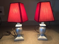Pair of Candlestick Lamps - NEW Ashburn