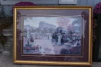 brown wooden framed painting of house Ancaster, L9G 3X5