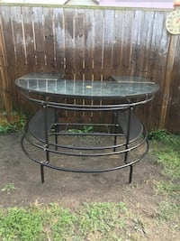 round black metal framed glass top table St Thomas, N5P 1S2