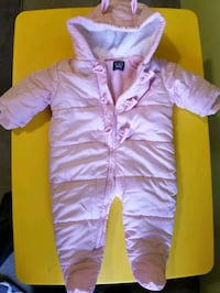 Baby's pink snowsuit. Size 3-6 months