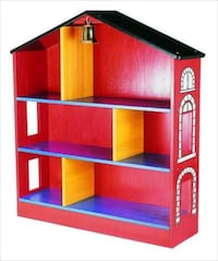 Firehouse bookshelf, rainbow colored, Guidecraft Denver, 80210