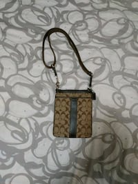 brown and black Coach monogram shoulder bag Kitchener, N2B 1Y1