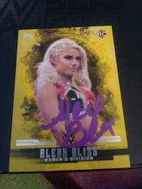 WWE ALEXA BLISS 2017 TOPPS GOLD RC AUTOGRAPH Greeley, 80634