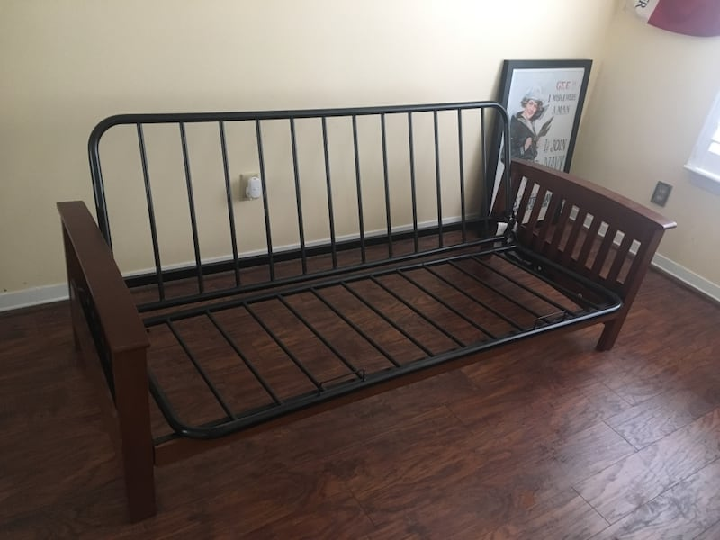 Used Metal And Wood Futon Frame For