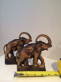 Elephants bookends brass vintage Surrey