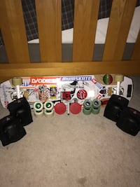 Baffle 37 Longboard with Wheels, Trucks, Knee/Elbow pads, Pucks, Tool