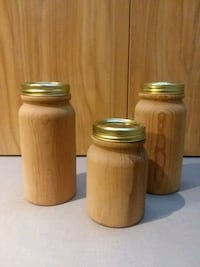 Wood Decor Jars