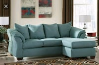 gray fabric sectional sofa with throw pillows Stockton, 95203