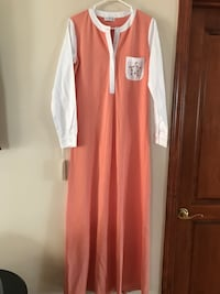 women's pink and white long-sleeved dress Laval, H7C 2H9