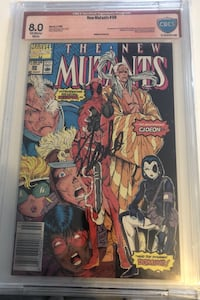 First appearance of dead pool certified and signed by Stan lee