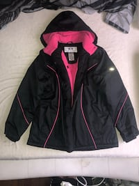 Black and pink Winter jacket good insulation  Brampton, L6V 2Z6