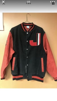 black and red letterman jacket Pipersville, 18947