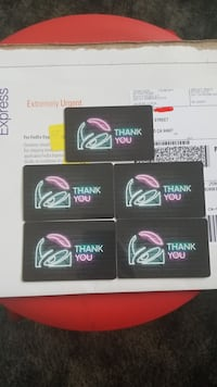 5x $50 ($250) Taco Bell Gift Cards