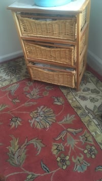 Brown wicker 2-drawer chest Moncks Corner, 29461
