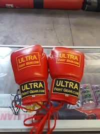 Ultra 10 oz lace up boxing gloves