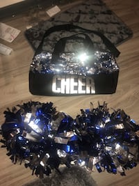 Blue and silver cheer bag and matching Pom Poms Summerville, 29483