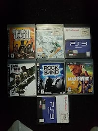 six assorted Sony PS4 game cases