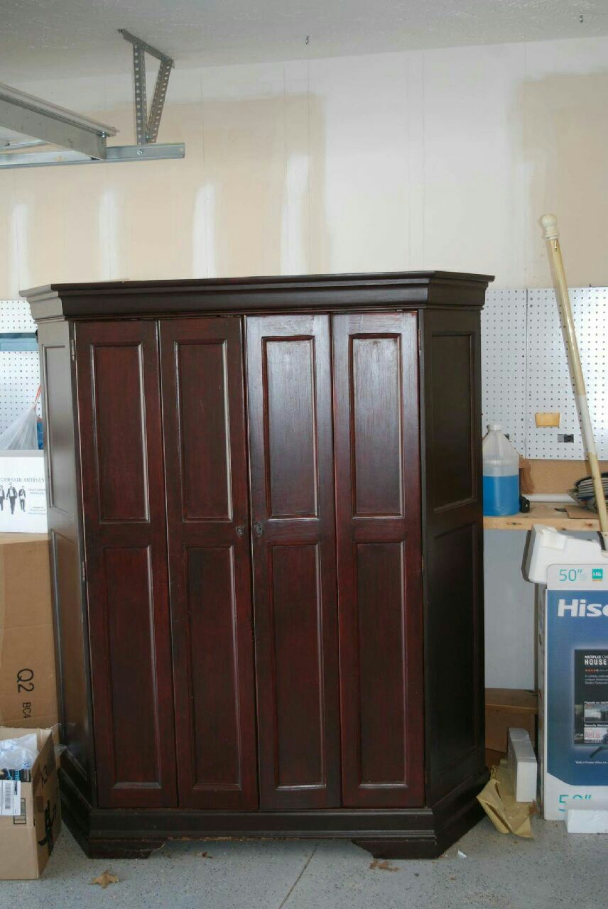 Solid Wood Hooker Furniture Computer Armoire