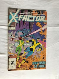 Marvels X-Factor Baptism of Fire Comic Book