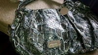 gray and black snakeskin leather bag Barrie, L4M 5S6